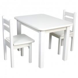 Drewniany stolik + krzesełko ze schowkami