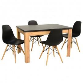 4 krzesła + stół ROZKŁADANY BIANCO