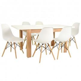 6 krzeseł + stół ROZKŁADANY BIANCO