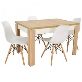 Stół i 4 krzesła SKANDYNAWSKIE