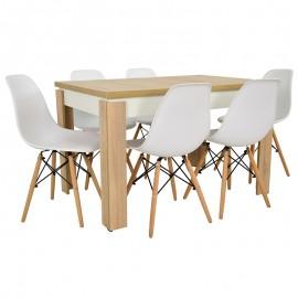 Stół i 6 krzeseł SKANDYNAWSKICH