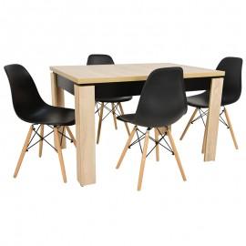4 krzesła SKANDYNAWSKIE +Stół rozkładany