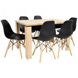 6 krzeseł SKANDYNAWSKICH +Stół rozkładany