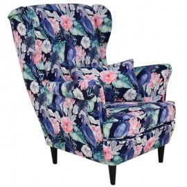 Fotel USZAK w kwiaty