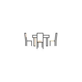 Komplety stół + krzesła